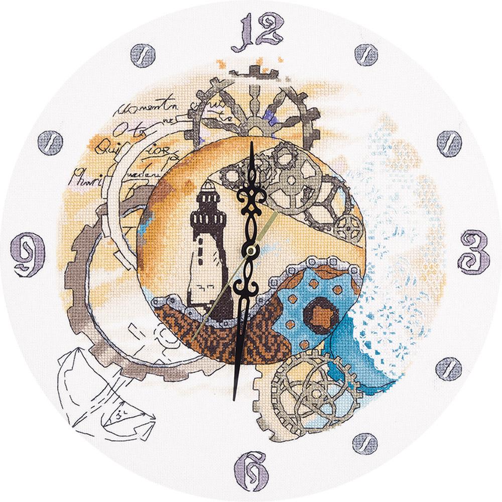 """Набор для вышивания Panna """"Механическое время"""", 31,5 x 31,5 см"""