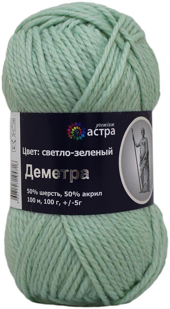 """Пряжа для вязания Астра """"Деметра"""", цвет: светло-зеленый (15), 100 м, 100 г, 5 шт"""