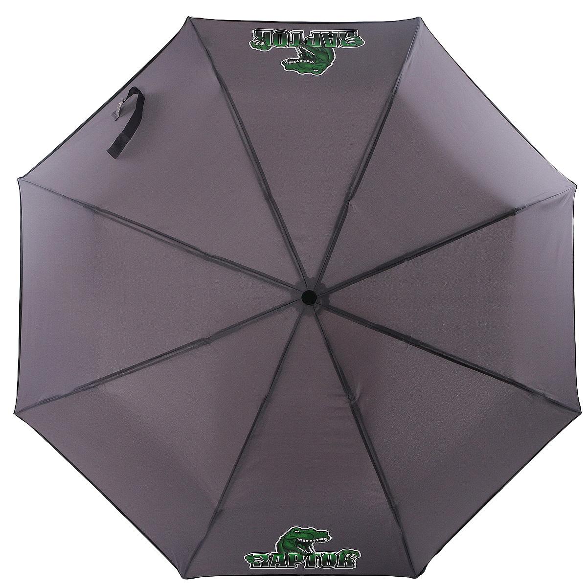 Зонт ArtRain, механический, 3 сложения, цвет: серый. 3517-1736 цена и фото