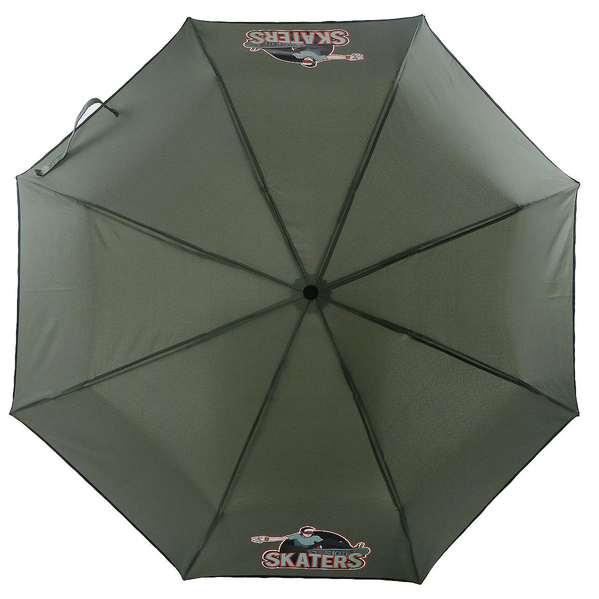 Зонт ArtRain, механический, 3 сложения, цвет: серый. 3517-1737 цена и фото