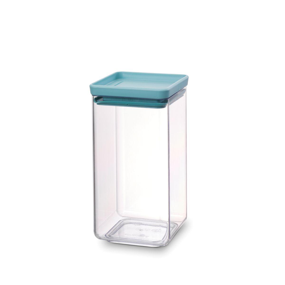 """Контейнер для сыпучих продуктов Brabantia """"Tasty Colors"""", цвет: прозрачный, голубой, 1,6 л. 290145"""