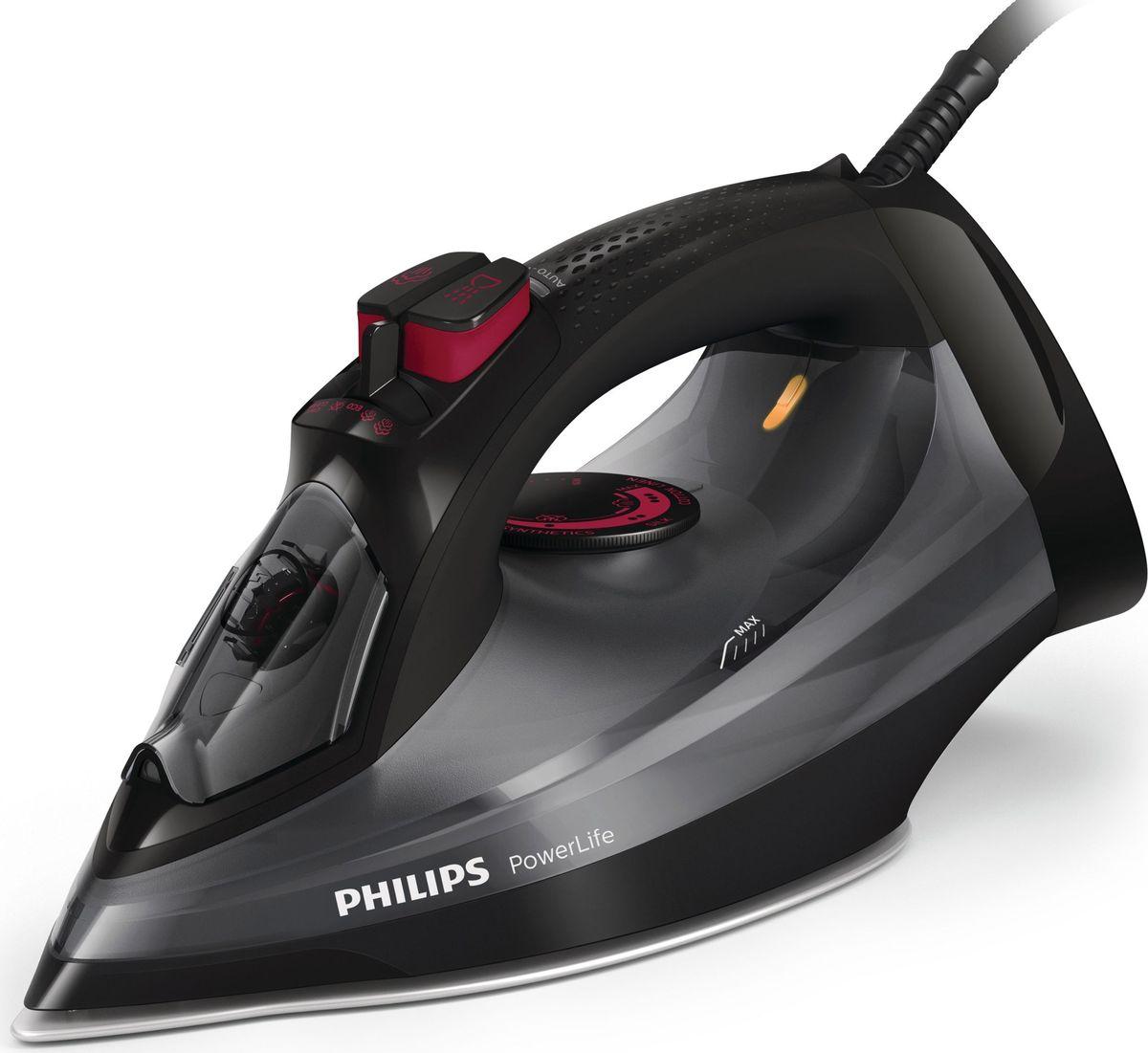 Фото - Утюг Philips GC2998/80 PowerLife, Black Dark Gray утюг philips 2500 вт удар 200г подача 45 г мин подошва steamglide plus красный белый