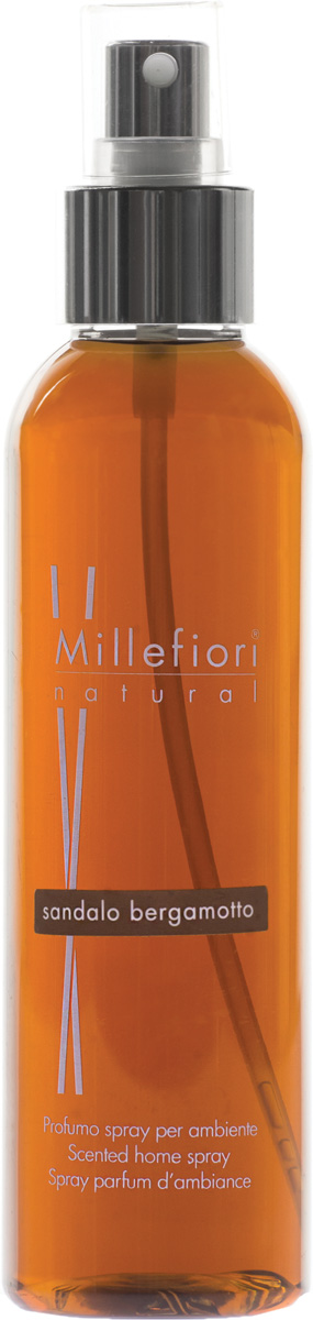 Ароматизатор Millefiori Milano Natural, сандал и бергамот, 150 мл картридж ароматический millefiori milano сандал и бергамот sandalo bergamotto автомобильный