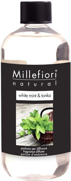 Ароматизатор Millefiori Milano Natural, белая мята и тонка, сменный блок, 250 мл ароматизатор millefiori milano natural яблоко и корица сменный блок 250 мл