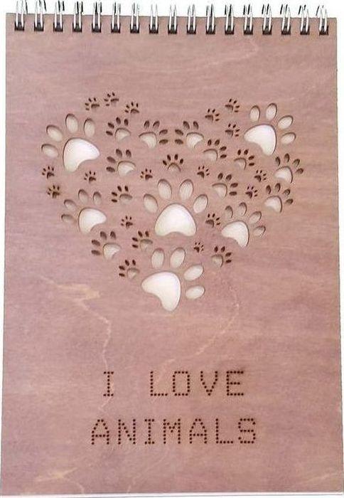 Decoriton Скетчбук I Love Animals А5 40 листов блузка женская love republic цвет слоновая кость 8151041312 60 размер 44