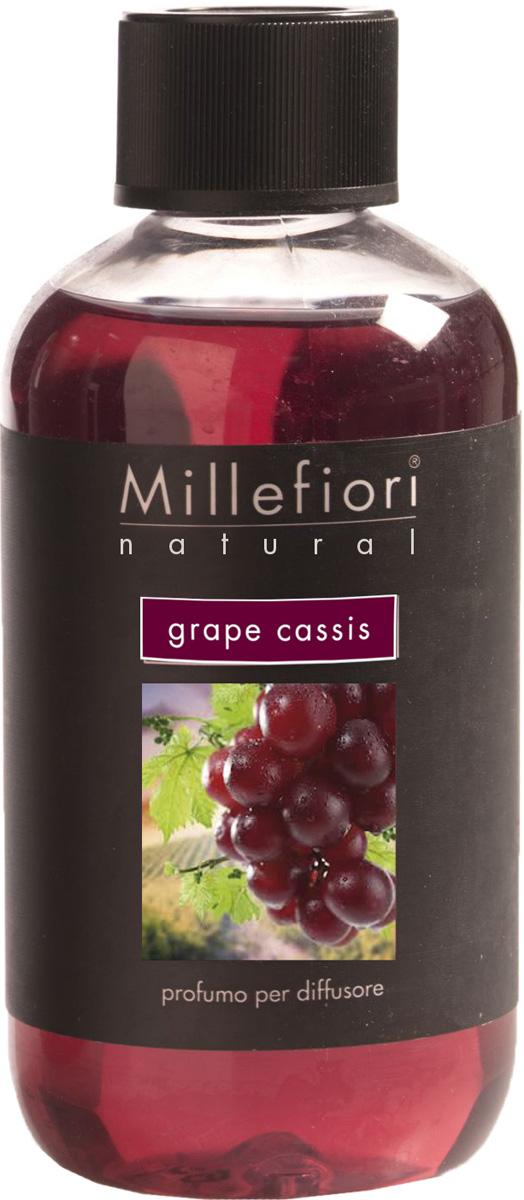 Ароматизатор Millefiori Milano Natural, виноградная гроздь, сменный блок, 250 мл ароматизатор millefiori milano natural яблоко и корица сменный блок 250 мл
