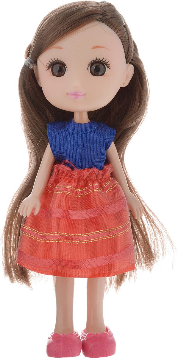 Yako Кукла Катенька цвет платья синий красный недорого