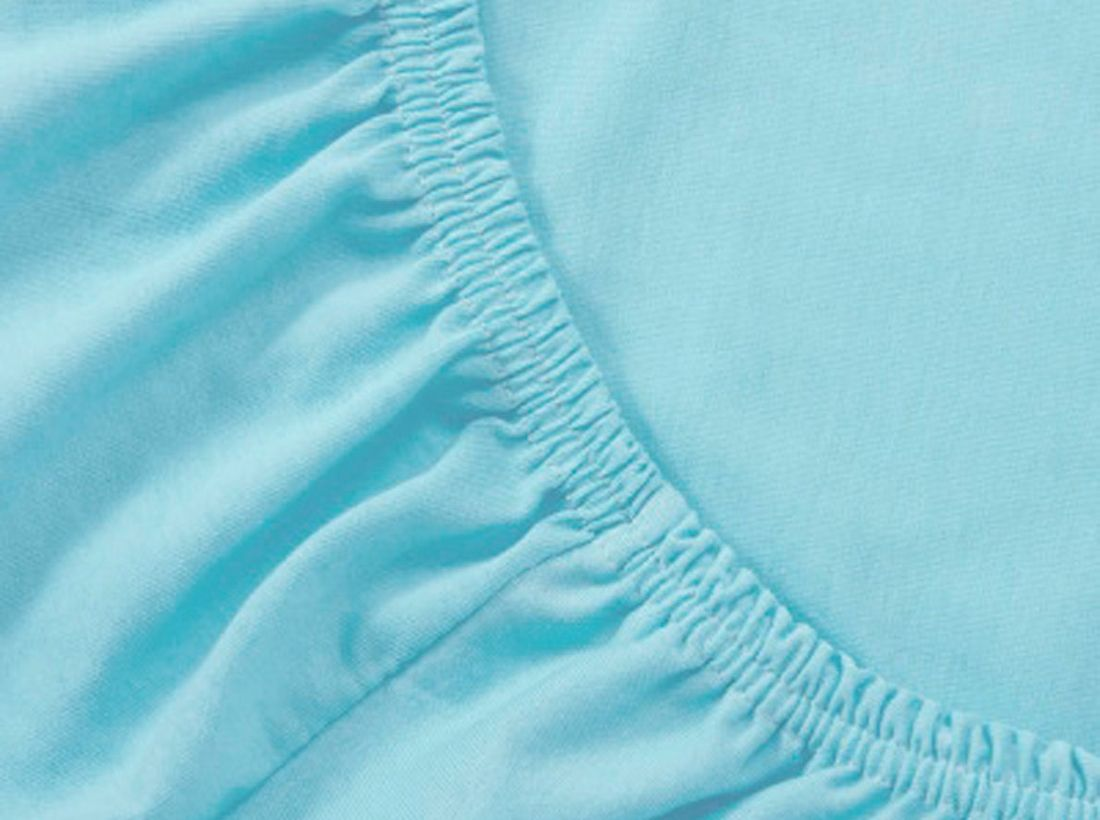 Mirarossi Простыня на резинке Ninna Nanna цвет бирюзовый 60 х 120 х 15 см