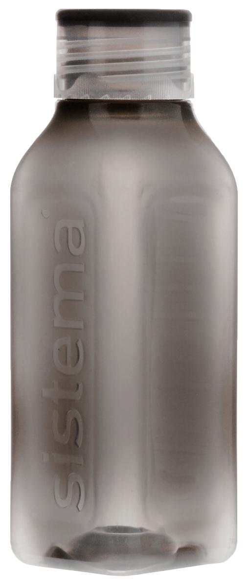 Бутылка Sistema Hydrate, цвет: серый, 475 мл. 870 бутылка для воды sistema цвет фиолетовый 350 мл