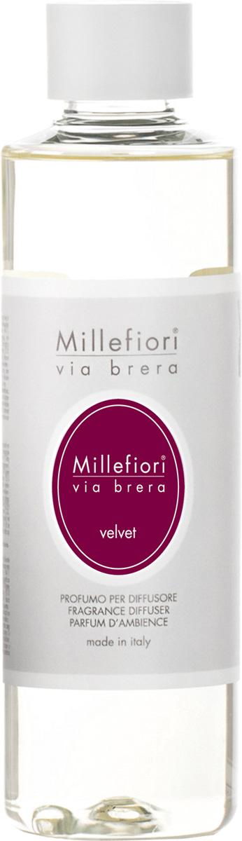 Ароматизатор Millefiori Milano Via Brera, вельвет, сменный блок, 250 мл ароматизатор millefiori milano natural яблоко и корица сменный блок 250 мл