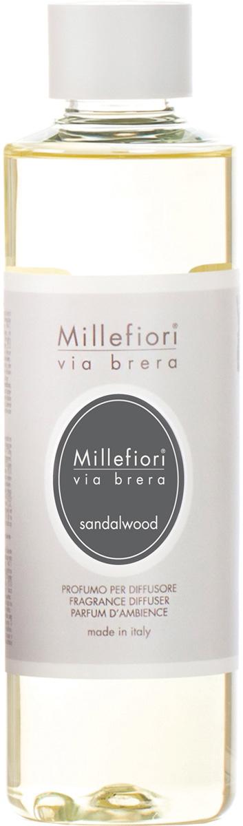 Ароматизатор Millefiori Milano Via Brera, сандаловое дерево, сменный блок, 250 мл ароматизатор millefiori milano natural яблоко и корица сменный блок 250 мл