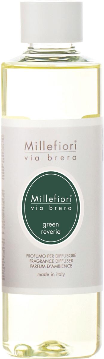 Ароматизатор Millefiori Milano Via Brera, свежесть зелени, сменный блок, 250 мл ароматизатор millefiori milano natural яблоко и корица сменный блок 250 мл