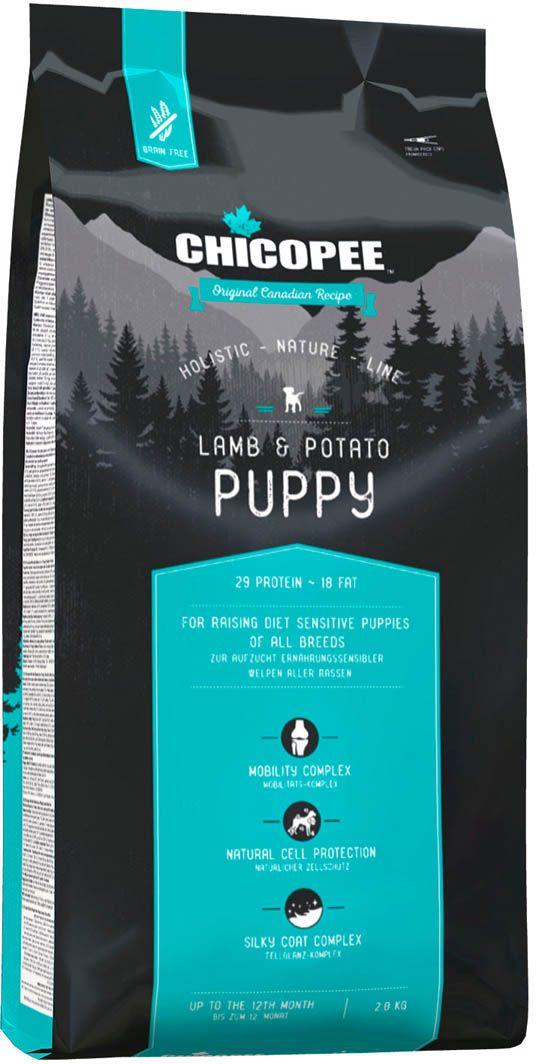 Корм сухой Chicopee HNL Puppy Lamb & Potato, для щенков, с ягненком и картофелем, 2 кг chicopee chicopee hnl puppy lamb
