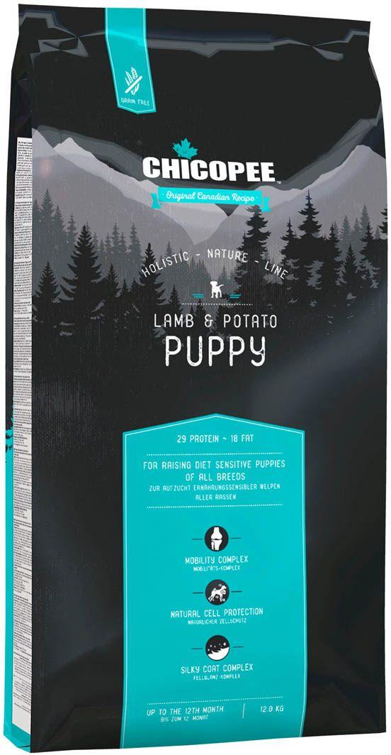 Корм сухой Chicopee HNL Puppy Lamb & Potato, для щенков, с ягненком и картофелем, 12 кг chicopee chicopee hnl puppy lamb