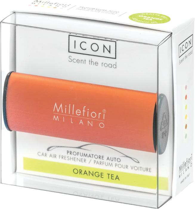 Ароматизатор автомобильный Millefiori Milano Icon. Классик, апельсиновый чай, ароматизатор автомобильный millefiori milano go11 лемонграсс
