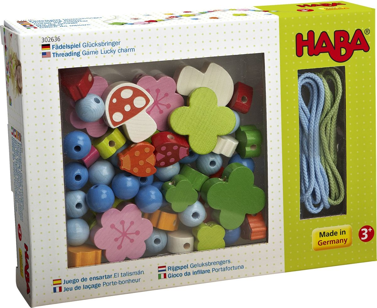 цена на Haba Игра-шнуровка Удачное обаяние
