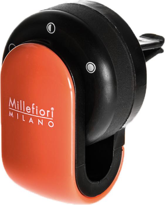 Ароматизатор автомобильный Millefiori Milano Go, сандал и бергамот, цвет: оранжевый картридж ароматический millefiori milano сандал и бергамот sandalo bergamotto автомобильный