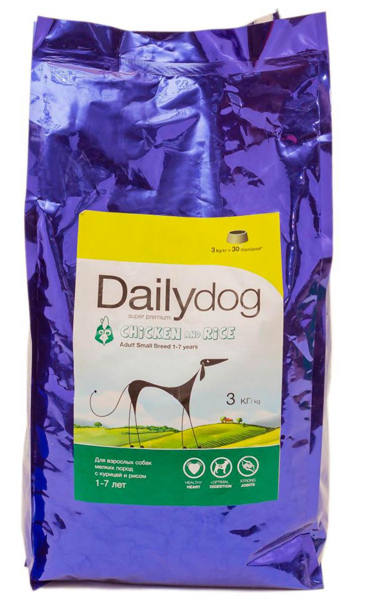 """Корм сухой Daily Dog """"Adult Small Breed Chicken & Rice"""", для взрослых собак мелких пород, с курицей и рисом, 3 кг"""