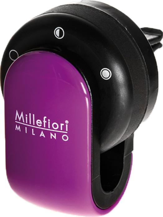 Ароматизатор автомобильный Millefiori Milano Go, сандал и бергамот, цвет: фиолетовый ароматизатор автомобильный millefiori milano go11 лемонграсс