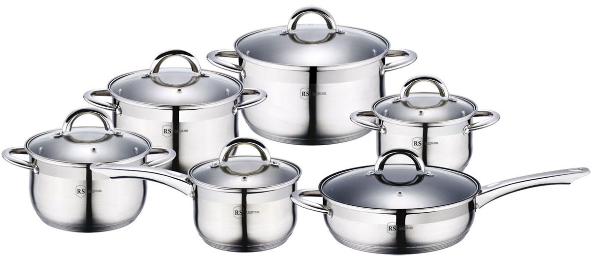 Набор посуды Rainstahl, цвет: стальной, 12 предметов. 1218-12RS\CW1218-12RS\CWНабор посуды Rainstahl состоит из 5 кастрюль с крышками и сотейника с крышкой. Посуда выполнена из высококачественной нержавеющей стали. Внешняя поверхность посуды с зеркальной полировкой. Нержавеющая сталь - это экологически чистый, безопасный для здоровья материал, который не вступает в реакцию с продуктами и не искажает вкус приготовленных блюд. Изделия снабжены крышками из прозрачного закаленного стекла, а также удобными ручками. Посуда подходит для использования на всех типах плит, включая индукционные. Подходит для мытья в посудомоечной машине. Рекомендуем!