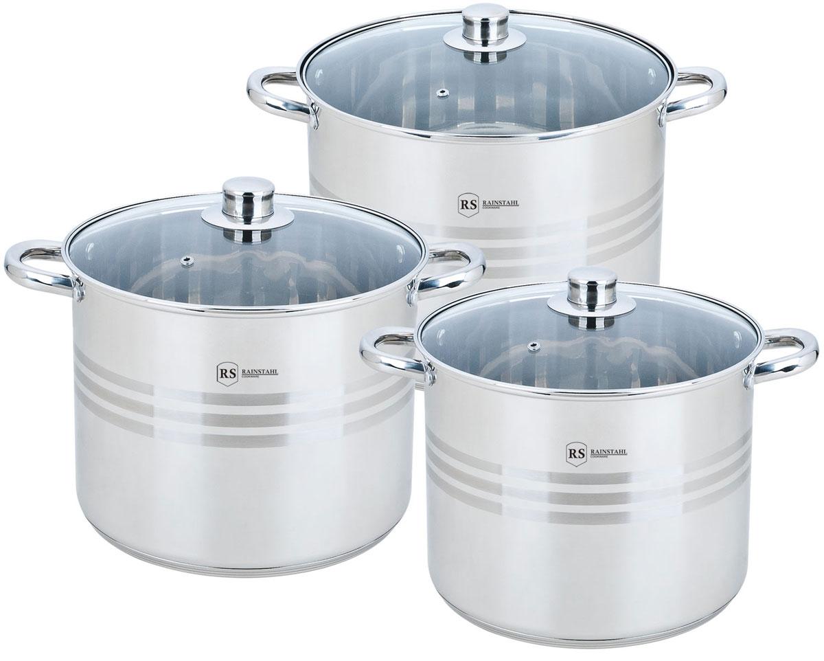Набор посуды Rainstahl, 2302-06RS/CW BK, стальной, 6 предметов