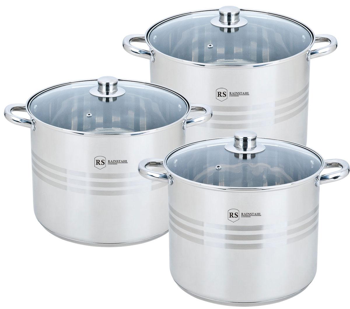 Набор посуды Rainstahl, цвет: стальной, 6 предметов. 2303-06RS/CW BK набор посуды rainstahl 8 предметов 0716bh