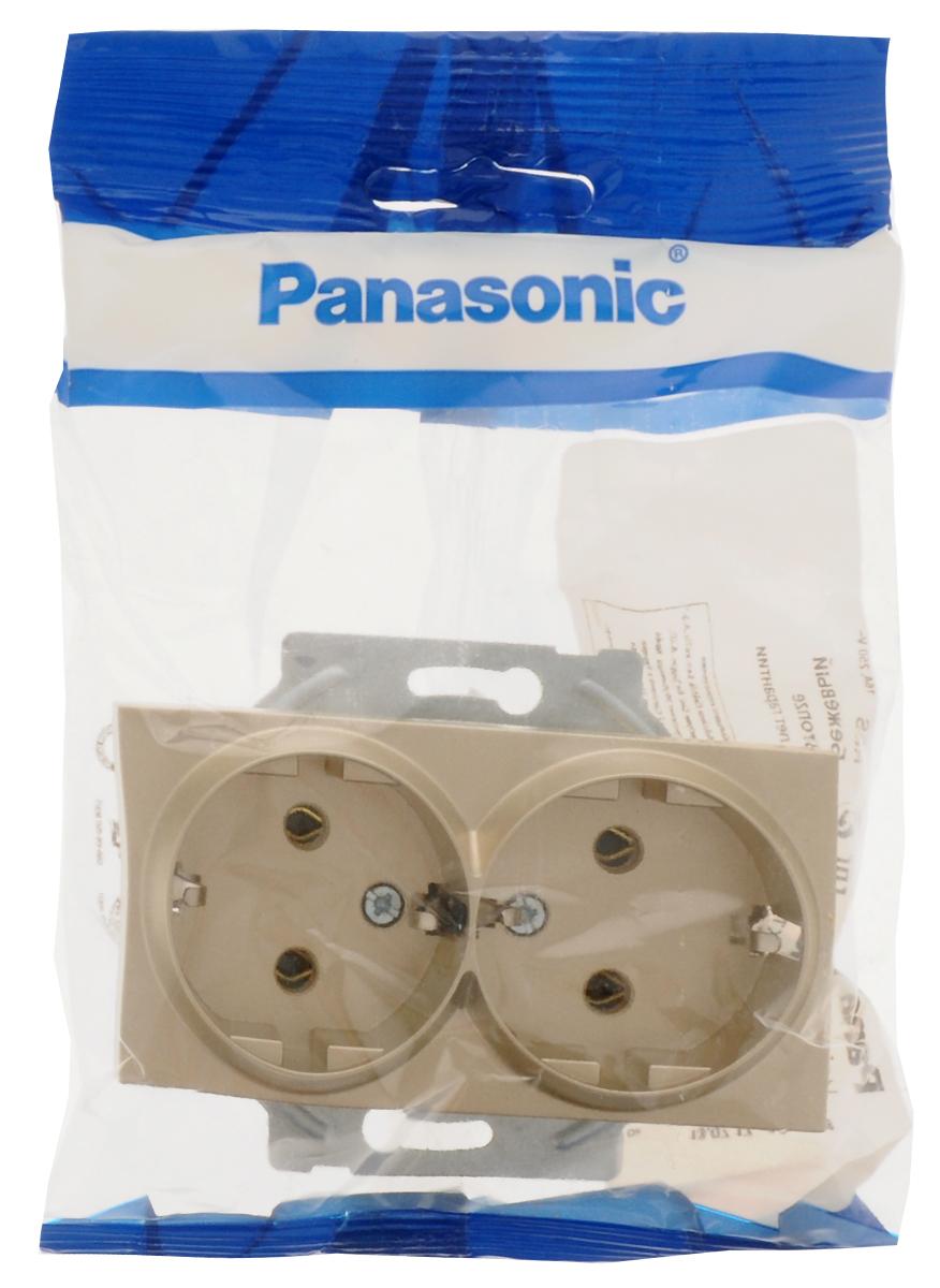 Розетка-модуль Panasonic Karre Plus, двойная, с заземлением, цвет: бронзовый. 5484054840 / WKTT0205-2BRРозетка-модуль Panasonic Karre Plus, двойная, с заземлением, осуществляет энергобезопасность в доме при использовании электрических приборов.