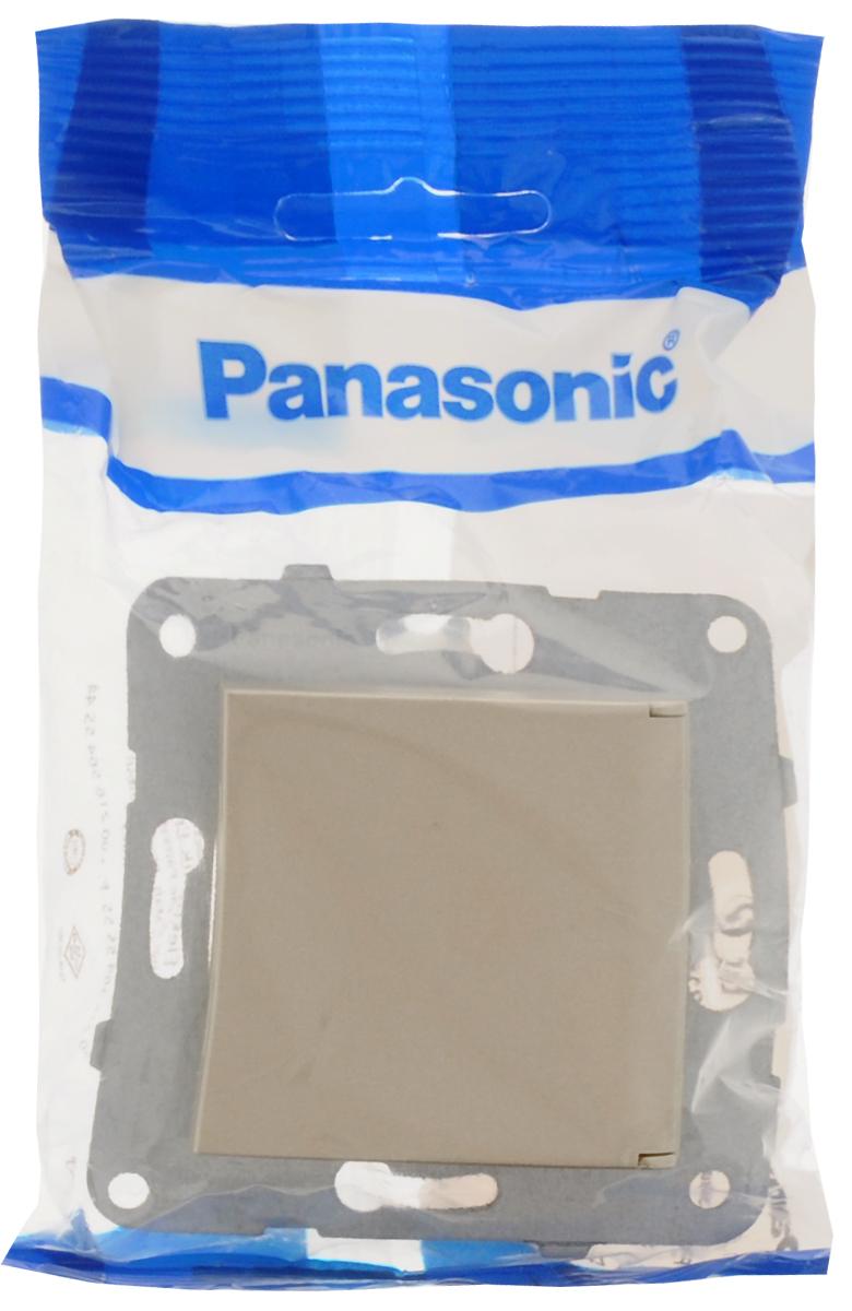 Фото - Розетка-модуль Panasonic Karre Plus, одинарная, с заземлением, с крышкой, цвет: бронзовый, 16 А. 54842 розетка panasonic karre plus одинарная с заземлением цвет темно серый 16 а 54860