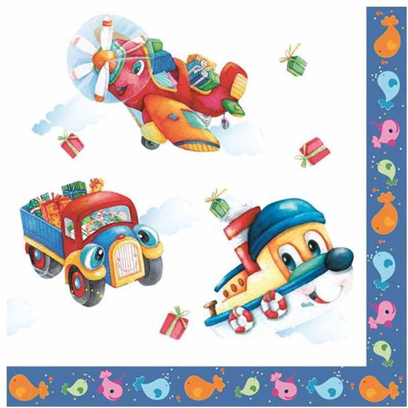 Салфетки Pol-Mak Daisy Любимые игрушки, трехслойные, 33 х 33 см, 20 шт салфетки pol mak детский мотив трехслойные 33 х 33 см 20 шт