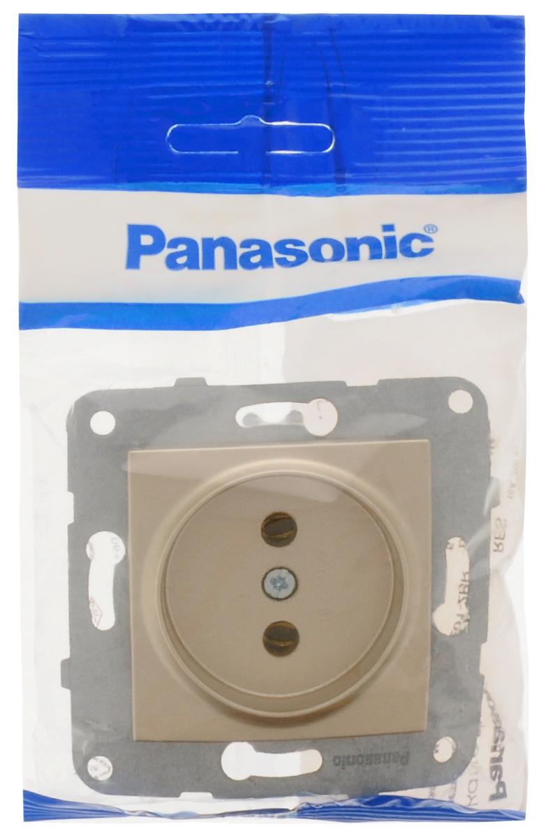 Фото - Розетка-модуль Panasonic Karre Plus, одинарная, без заземления, цвет: бронзовый, 16 А. 54844 розетка panasonic karre plus одинарная с заземлением цвет темно серый 16 а 54860