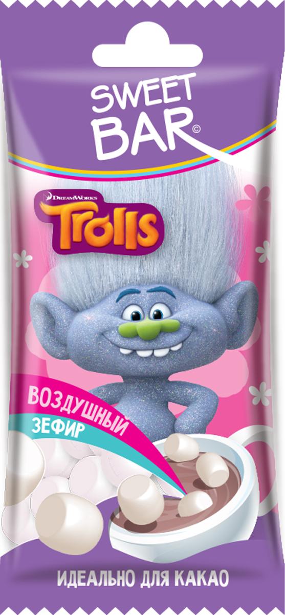 Конфитрейд Trolls зефир для какао, 15 г fluff зефир кремовый marshmallow с ванильным вкусом 213 г