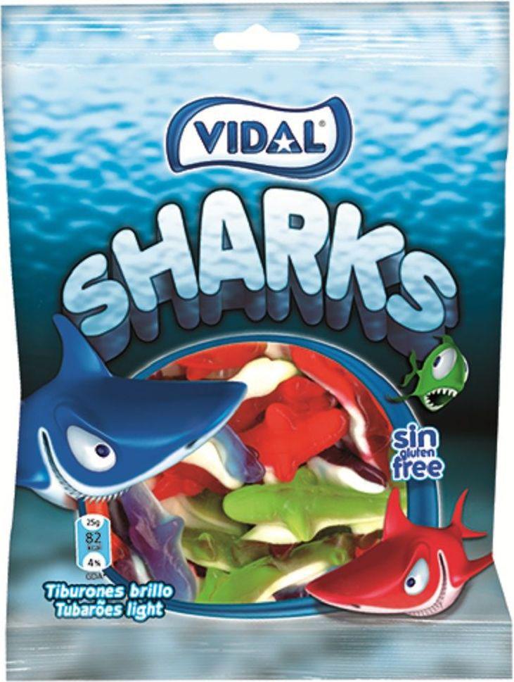 Vidal Акулы жевательный мармелад, 70 г победа вкуса шмелькино брюшко микс жевательный мармелад 250 г