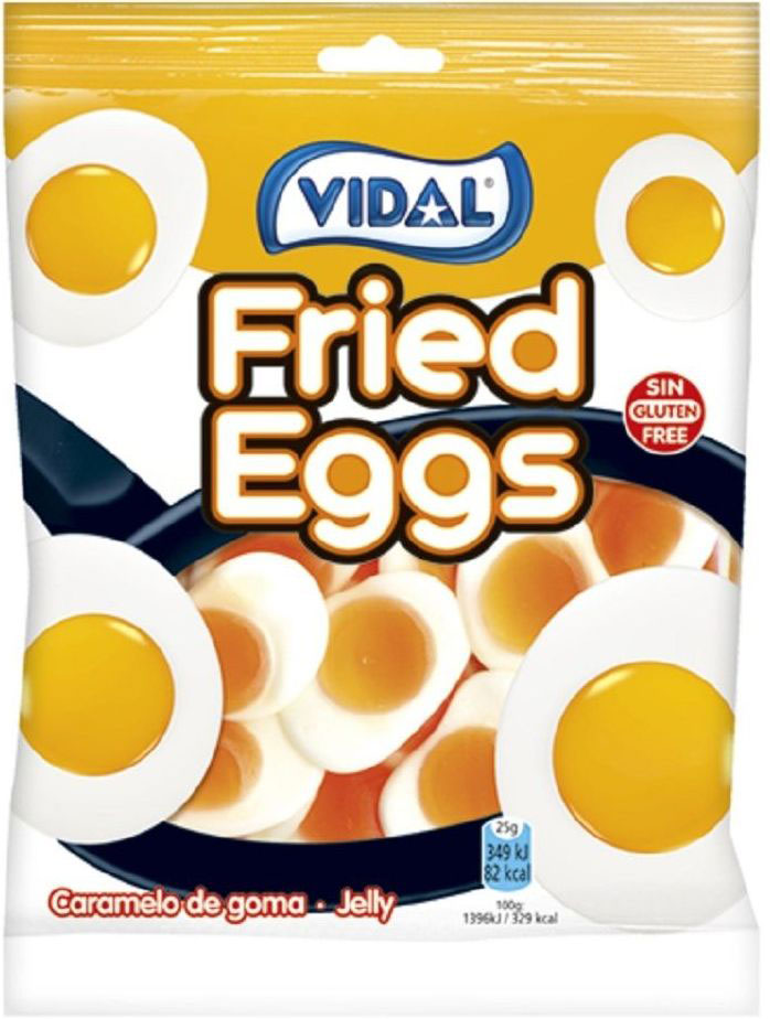Vidal Яичница жевательный мармелад, 70 г победа вкуса шмелькино брюшко микс жевательный мармелад 250 г