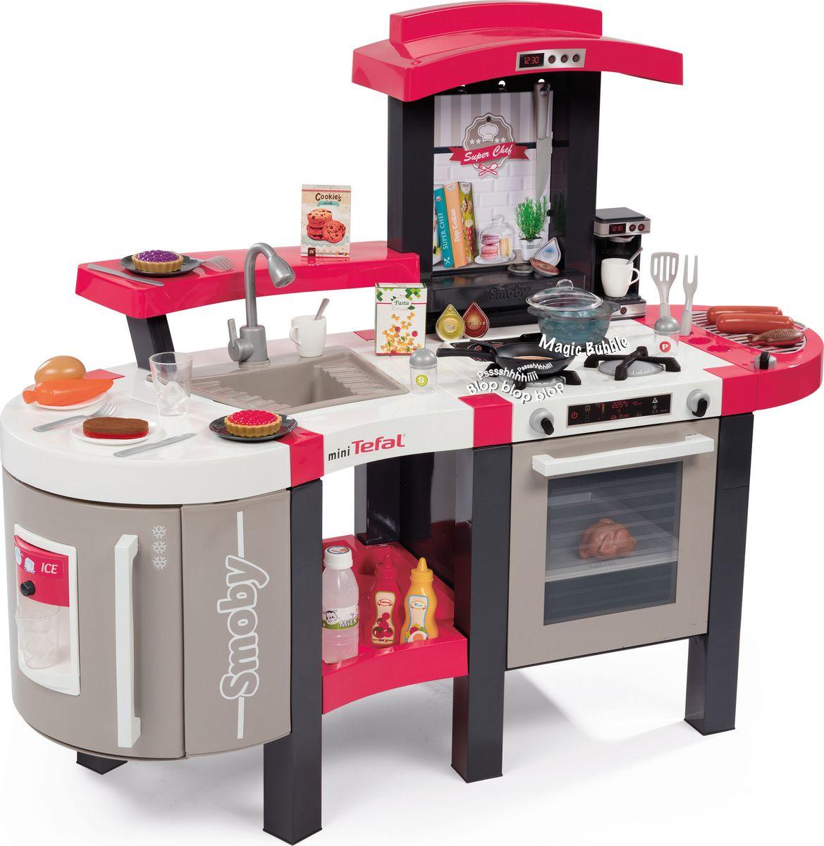 Smoby Игровой набор Кухня Tefal Super Chef Deluxe smoby кухня электронная tefal super chef deluxe звук пузырьки 46 аксессуаров 311304