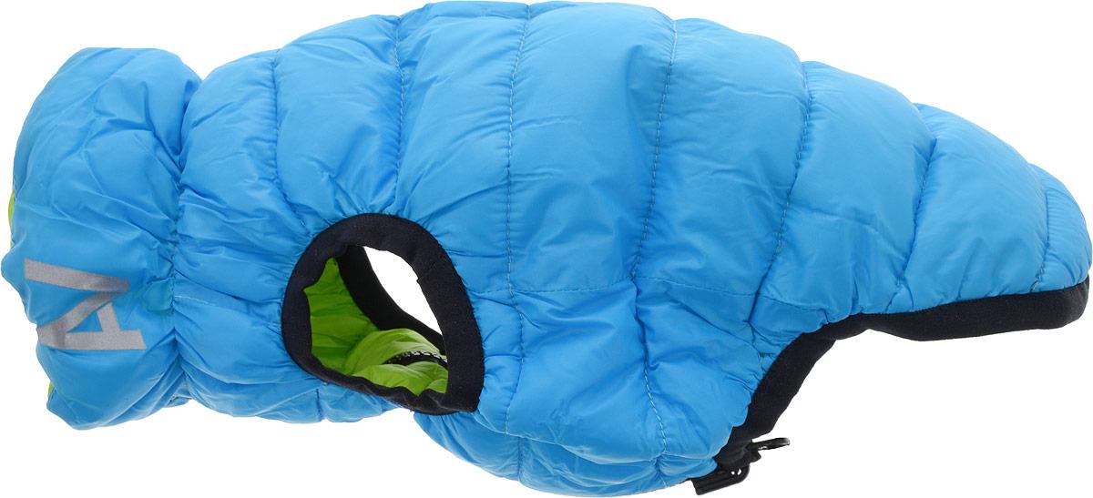 """Куртка для собак """"AiryVest"""", двухсторонняя, унисекс, цвет: салатовый, голубой. Размер XS (25)"""