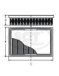 Воздушный фильтр SCT SB278