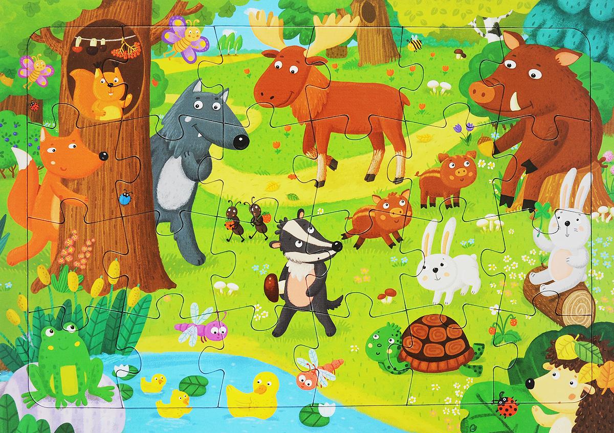 Лесные животные. Пазл