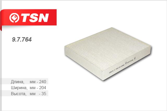 Фильтр салона TSN, пылевой, CHEVROLET Cruze 1.6 фильтр масляный tsn 923