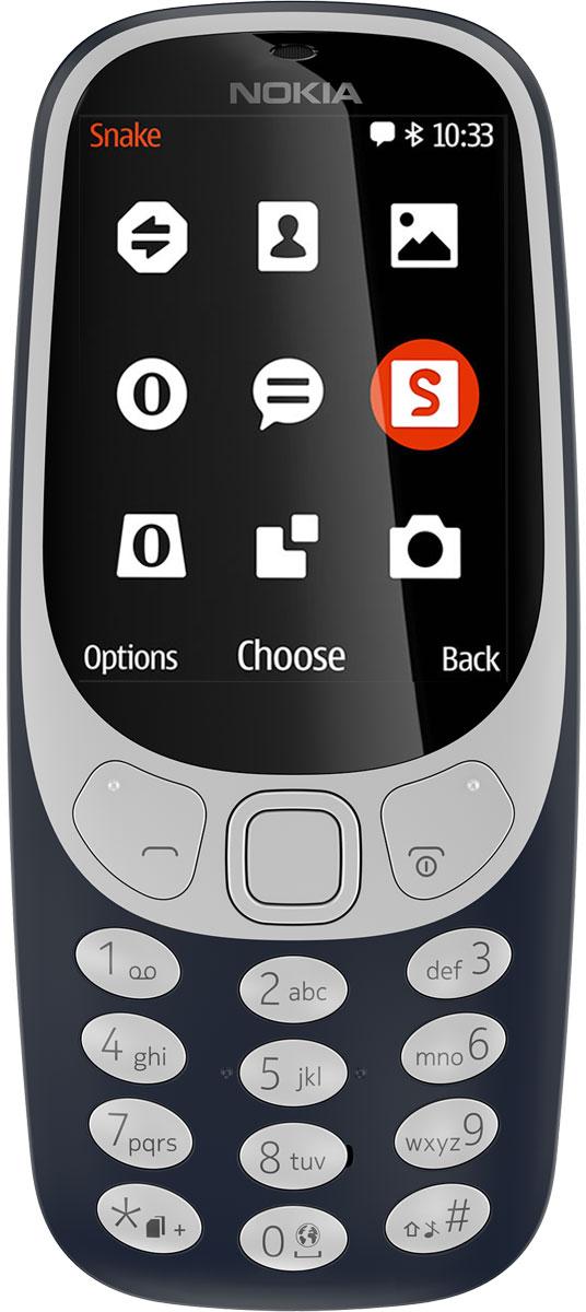 Мобильный телефон Nokia 3310 DS, темно-синий телефон