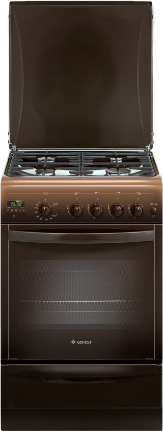 Газовая плита Gefest 5100-04 0001, 8549, brown8549Газовая плита Gefest 5100-04 0001 способна функционировать не только от центрального снабжения, но и от баллонов со сжиженным топливом. Устройство оснащено духовкой объемом 42 л, которую можно использовать для приготовления мясных, рыбных или овощных блюд, а также для создания различных хлебобулочных изделий. При помощи гриля можно запечь сочную курицу или рыбу с хрустящей золотистой корочкой. Яркая лампа накаливания хорошо освещает камеру, что позволяет контролировать процесс приготовления еды. Варочная поверхность газовой плиты Gefest 5100-04 0001 представлена четырьмя конфорками различной мощности. Управление кухонным прибором осуществляется механическим способом посредством плавных поворотных переключателей. Эмалированное покрытие обладает повышенной износостойкостью и устойчивостью к воздействию высоких температур. Материал легко очищается от различных видов загрязнений при помощи моющих средств и салфетки из микрофибры. На рабочую поверхность установлена прочная чугунная решетка, которая имеет надежные точки опоры и выдерживает тяжелую посуду. Крупногабаритный товар.
