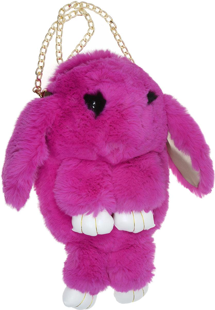 Vebtoy Рюкзак дошкольный Пушистый кролик цвет фуксия
