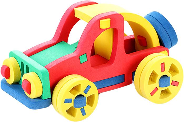 Бомик Конструктор Автомобиль цвет основы синий357_синийС помощью мягкого конструктора Бомик Автомобиль можно собрать ярку машинку.Объемный конструктор изготовлен из мягкого, нетоксичного, материала. Детали имеют закругленные края, не тонут в воде, не ломаются, легко крепятся друг к другу за счет специальных крепежей.Игрушка помогает выучить основные цвета, развивает мелкую моторику и координацию пальцев, учит соотносить форму и размер.