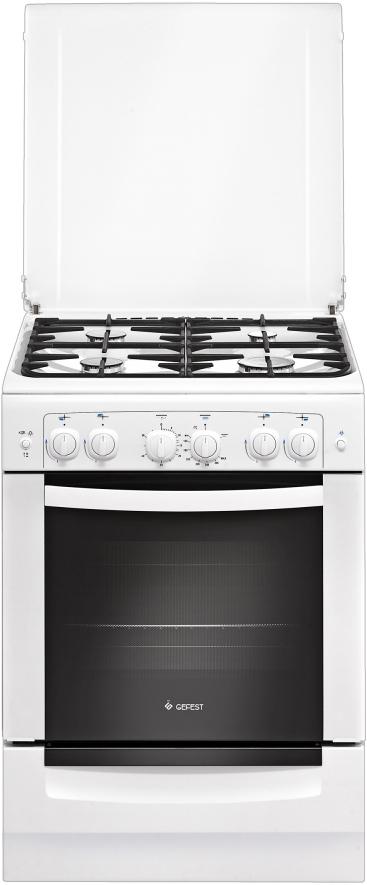 Газовая плита Gefest 6100-02, 30251, white газовая плита gefest 6100 03 0002 6100 03 с
