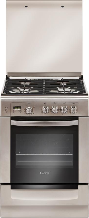 Плита Gefest 6100-03 0004, газовая, нержавеющая сталь