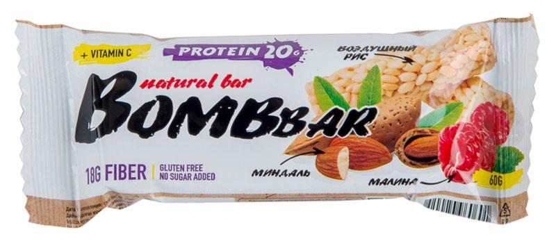 Батончик протеиновый Bombbar, рисовый, 60 г,