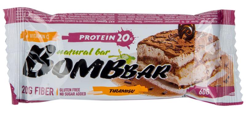Батончик протеиновый Bombbar, тирамису, 60 г