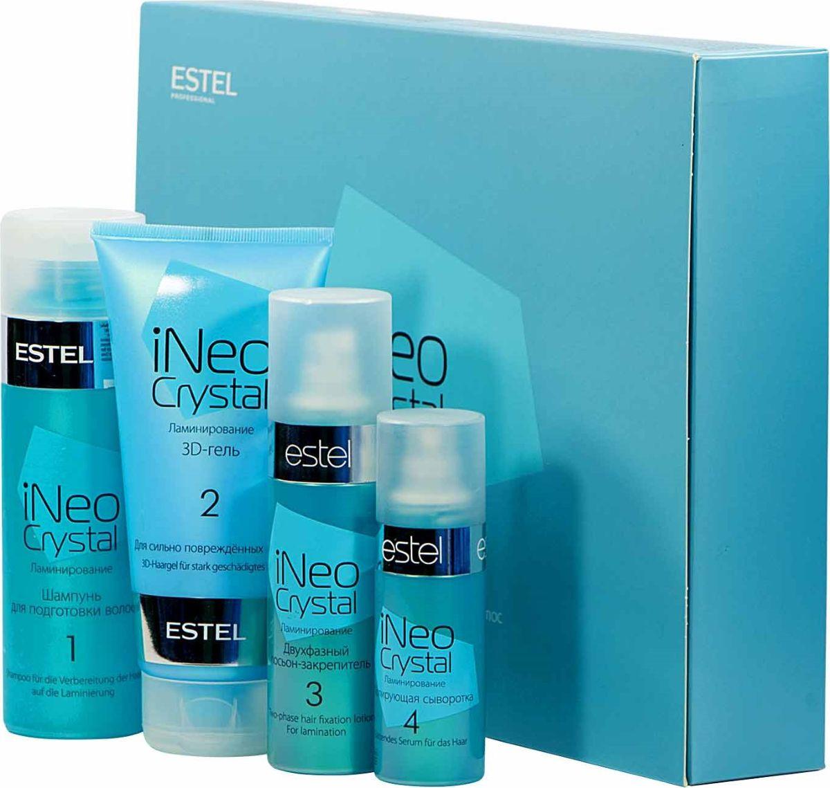 Estel iNeo-Crystal Набор для процедуры ламинирования волос с 3D-гелем для сильно поврежденных волос