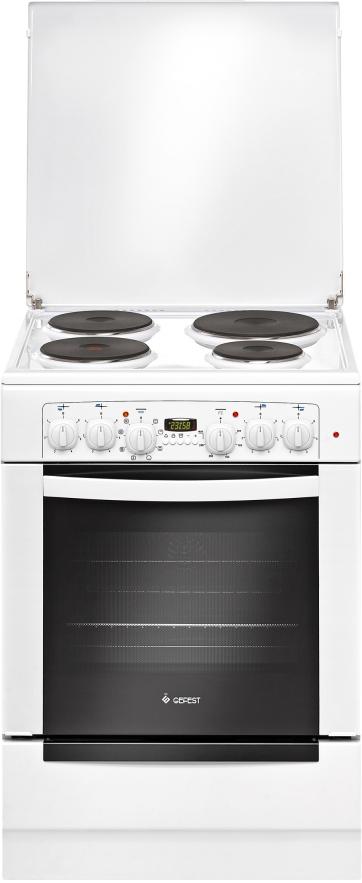 Электрическая плита Gefest 6140-03, 425769, white425769Кухонная электрическая плита GEFEST 6140-03 обладает классической эмалированной рабочей поверхностью состоящей из 4 конфорок и духовым шкафом объёмом 52 литра.Духовой шкаф объемом 52 литра защищен откидывающейся дверцей с термостойким двойным остеклением. В духовке есть все необходимые функции: подсветка, электро- и турбо-гриль, вертел и вентилятор для конвекции.Плита удобна не только для приготовления, но и для хранения посуды - в нижней части располагается выдвижной ящик для домашней утвари. Крупногабаритный товар.