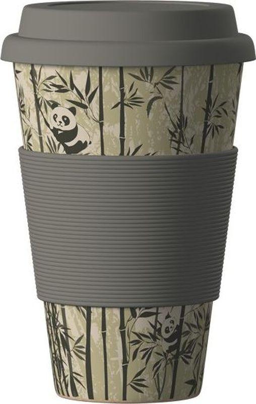Стакан BambooCup Панда, экологичный, 400 мл кружка дорожная areon bamboocup 280 470