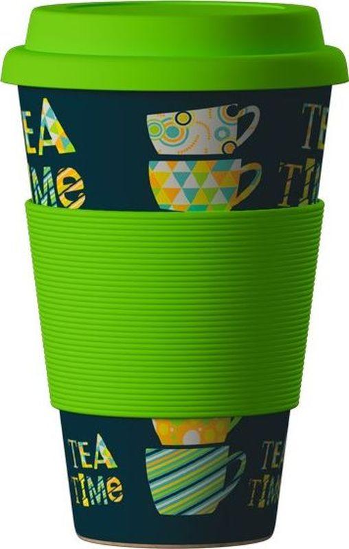 Стакан BambooCup Зеленый чай, экологичный, 400 мл кружка дорожная areon bamboocup 280 470